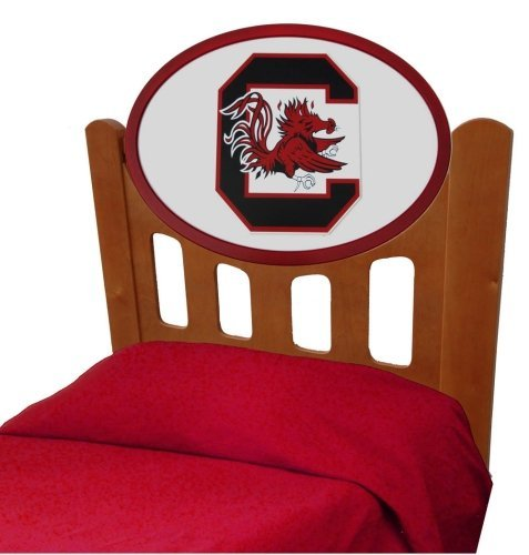 Image of South Carolina Gamecocks Kids Wooden Twin Headboard With Logo (C0526S-South Carolina)