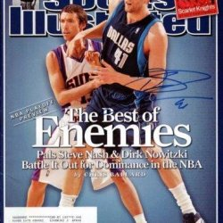 Dirk Nowitzki Autographed Signed Si Magazine Dallas Mavericks #X62899 - Psa/Dna Certified - Autographed Nba Magazines