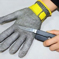 Xhan Safety Cut Proof Stab Resistant Stainless Steel Metal Mesh Butcher Glove