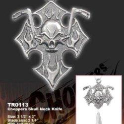 New Chopper Skull Neck Knife Tro113