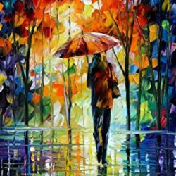 Towards Love Palette Knife Oil Painting On Canvas Wall Art Deco Home Decoration 12X16In 30X40Cm Unframed