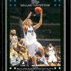 2007-08 Topps Basketball # 41 Dirk Nowitzki - Nba Trading Card