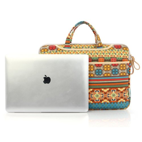 KayondBohemian-Style-Canvas-Fabric-12-15-Inch-Laptop-bag-Notebook-Computer-MacBook-MacBook-Pro-MacBook-Air-Carrying-Case