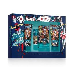 Christian Audigier Hardy Hearts And Daggers Cologne 4 Piece Gift Set For Men