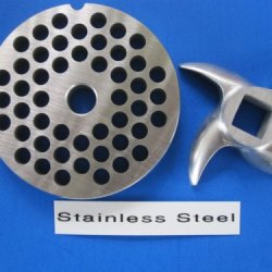 "#12 X 1/4"" Set Hamburger Meat Grinder Grinding Plate And Knife For Hobart Lem Cabelas Mtn Torrey Etc. *Stainless Steel*"