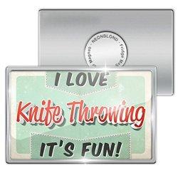 Fridge Magnet I Love Knife Throwing, Vintage Design - Neonblond
