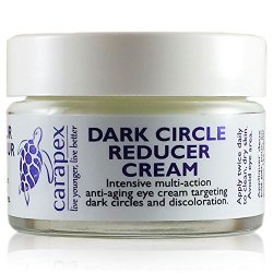 Brightening Eye Cream, Carapex Dark Circle Reducer Cream, Natural Dark Circle Correcting Eye Cream For Wrinkles And Puffiness, For Sensitive Skin, Crows Feet, Hydrating, Ease Dryness, With Avocado Oil, Olive Oil, Cruelty Free, Unscented, Paraben Free, 1Oz