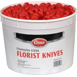 Clauss 34013 Pail Of 100 Straight Blade Floral Knives