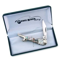 Ocoee River Abalone Leg Knife - Engravable Personalized Gift Item