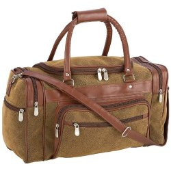 """Exclusive Tote Bags Incomparable Luggage 17""""Brown Faux Leather Tote Bag Standout"""