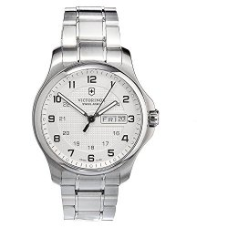 Victorinox Swiss Army Men'S 241551.1 Steel Officers Quartz Analog White Dial Watch