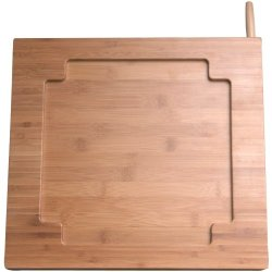 1 - Ipad(R) Bamboo Adjustable Kitchen Stand With Knife Storage