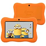 "Contixo Kids 7"" Quad-Core Android 4.4 Tablet 8GB Bluetooth Wi-Fi Dual Camera, 20+ Free Games, HD Edition w/ Kids-Place Parental Control Pre-Installed, Kid-Proof Case, Plus Bonus Items (Orange)"