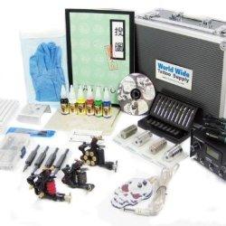 Tattoo Starter Kit #3 -Tattoo Supply, Machine, Needles, Ink, Grips, Tips, Case-