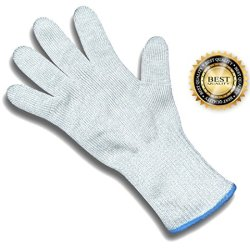 Best Cut Resistant Safety Gloves Ce Level 5 Protection From Kitchen Knives, Mandoline & Graters With Stainless Steel Wire 1 Glove