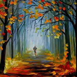 Modern Knife Paintng Painting Mornning Park Wall Decor Superb Paintings On Canvas 32X24In/80X60Cm Unframed