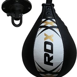 Authentic Rdx Leather Speed Ball & Swivel Boxing Punch Bag Mma Punching Training Pear Set