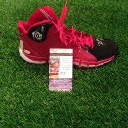 Derrick Rose Autographed Adidas D Rose Shoe Coa Nba Auto Chicago Bulls - Jsa Certified - Autographed Nba Sneakers