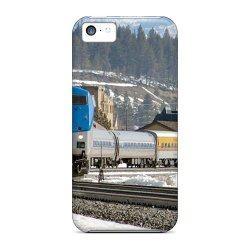 Mine World Tpu Train In Winter Countryside Case For Iphone 5C Color Grey