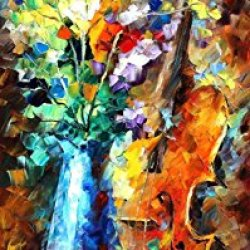 Sweet Flower Palette Knife Oil Painting On Canvas Wall Art Deco Home Decoration 16 X 40 In Unframed