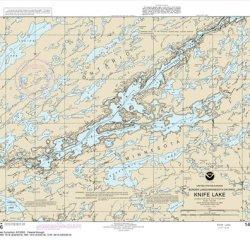 Noaa Chart 14986: Knife Lake, 19.6 X 22, Traditional Paper