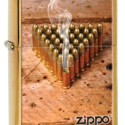 Zippo Bullets Lighter, Brushed Brass