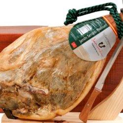 Carmen & Lola Bone-In Jamon Serrano Ham Pack (15-17 Lbs. Ham+Knife+Holder)
