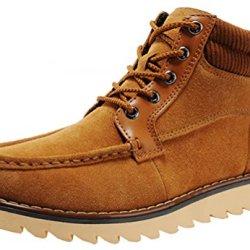 Rock Me Men'S Winter Soft Collar Cotton Ankle Lace Up Boots Martin I(9 D(M) Us, Chestnut)