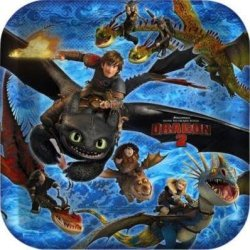 How To Train Your Dragon 2, 3 Pack 8Pc Dinner Plates, 24Ct