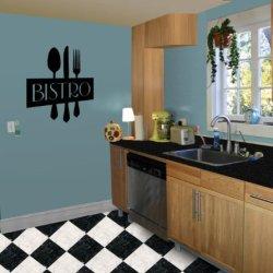 Bistro Sign, Utensils - Vinyl Wall Art Decal Stickers Decor Graphics