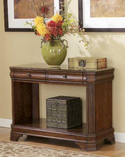 Image of Hamlyn Sofa / Console Table in Medium Brown Finish (T677-4)