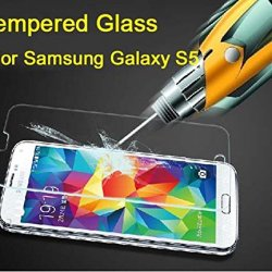 Etech Collection 1 Piece Of Premium Tempered Glass Screen Protector For Samsung Galaxy S5 / Sv / I9700 -- Highest Quality Premium Anti-Scratch Bubble-Free Reduce Fingerprint No Rainbow Washable Screen Protector Easy Install Product [0.33Mm, 2.5D Rounded E