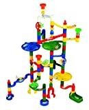 Edushape Marbulous Marble Run - 82 Pieces + 50 Marbles (Total 132 Pc Set) Sturdy Setups with Clear Step-by-step Illustrated Instructions in Four Different Skills Levels