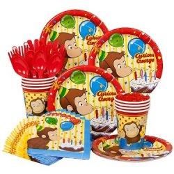 Curious George Birthday Standard Kit Serves 8 Guests