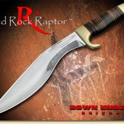 Down Under Knives Red Rock Raptor Knife