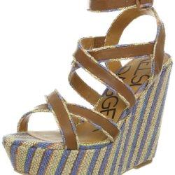 Kelsi Dagger Women'S Paxton Wedge Sandal,Cobalt,9.5 M Us
