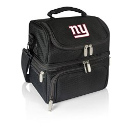 Nfl New York Giants Pranzo Insulated Lunch Tote, Black, 12 X 11 X 8-Inch