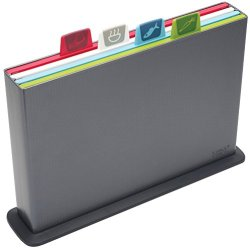 Joseph Joseph Index Chopping Board Set, Large, Graphite