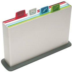 Joseph Joseph Index Chopping Board Set, Small, Silver