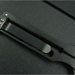 All Black Pocket Folding Skinner And Strap Holder Knife-344B