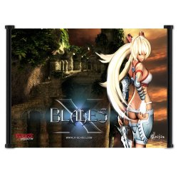 "X-Blades Game Fabric Wall Scroll Poster (21"" X 16"") Inches"