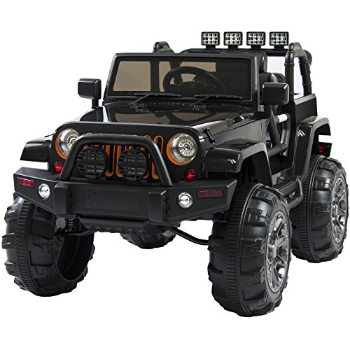 Best-Choice-Products-Jeep-Style-12V-Ride-On-Car-Truck-W-Remote-Control-3-Speeds-Spring-Suspension-LED-Light-Black