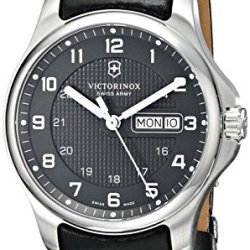 Victorinox Men'S 241549.1 Officers Analog Display Swiss Quartz Black Watch