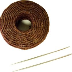 Springfield Leather Company'S Burgundy Waxed Thread Kit W/ 2 Needles Bonus Handstitching Instructions