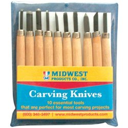 Midwest Products 3803 10-Piece Carving Knives