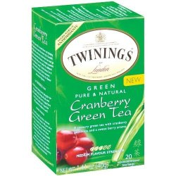 Twinings Green & Cranberry Tea, 20-Count Tea Bags (Pack Of 6)
