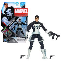 Hasbro Year 2011 Marvel Universe Series 4 Single Pack 4 Inch Tall Action Figure #013 - Punisher With 2 Guns, Combat Knife And Assault Rifle Plus Collectible Comic Shot