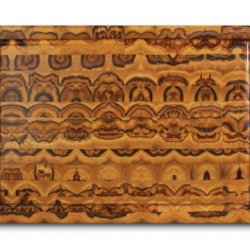 """Proteak Rectangular Cutting Board, 20"""" X 14"""" X 2-1/2"""" With Hand Grip And Juice Canal #313"""