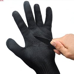 Vovotrade(Tm)New Wire Safety Anti-Slash Cut Proof Static Stab Resistance Protect Gloves Mesh