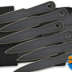 "Tk-185-6-Bk 6 Im2O41Pbxc Pc 4.5"" Mini Throwing Knives W/ Wrist Carrying Bheawz21 Case Folding Knife Edge Sharp Steel Ytkbio Tikos567 Bgf Set Your Sights On The Target With These Compact And Super-Sharp Yvjabcwohi Mini Throwing Owpgbet Knives. Each Knife I"